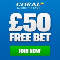 CLICK HERE to claim your £50 FREE BET