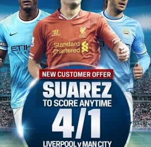Liverpool vs Man City Free Bet