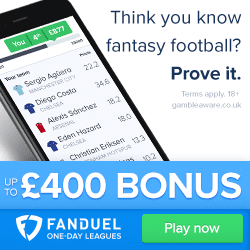 Fan Duel Daily Fantasy Sports Betting for Cash