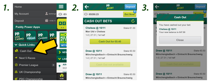 How to cash out with paddy power app