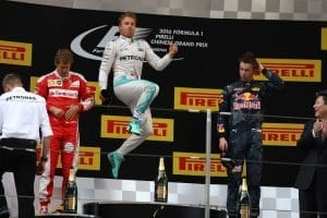 Chinese grand prix podium